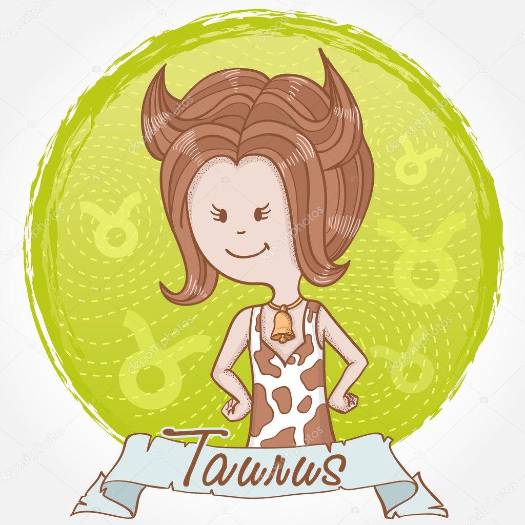 Illustrazione del segno zodiacale toro in stile cartone
