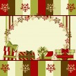 Christmas and New Year greeting card with gifts - Vettoriali Stock