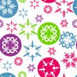 Christmas and New Year seamless pattern with colorful snowflakes — Stock Vector #13579420