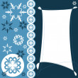Christmas and New Year greeting card with snowflakes - Stock Vector