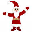 Cute Santa Claus. Vector illustration — Stock Vector