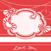 Valentine day greeting card with hearts — Stock Vector