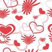 Srdce vzor bezešvé pozadí — Stock vektor