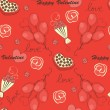 Royalty-Free Stock Vector Image: Seamless pattern with flowers and hearts