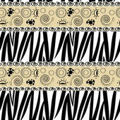 African style seamless with zebra skin pattern — Stock Vector