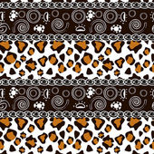 African style seamless with cheetah skin pattern — Stock Vector