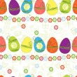 Easter egg pattern seamless background — Stock Vector