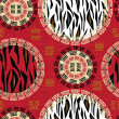 African style seamless with wild animal skin pattern  — Stok Vektör