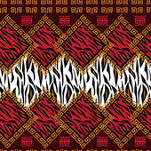 African style seamless with wild animal skin pattern — Stock Vector