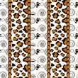 Stock Vector: Africstyle seamless with cheetah skin pattern