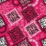 abstraktní africký styl bezešvé vzorkem divokých zvířat kůže — Stock vektor
