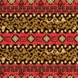 African style seamless with cheetah skin pattern — Stock vektor