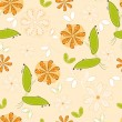 Stock Vector: Flower pattern seamless background