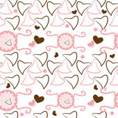 Valentines motives seamless pattern with hearts — Stock Vector