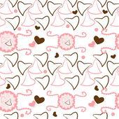 Valentines motieven naadloze patroon met hart — Stockvector