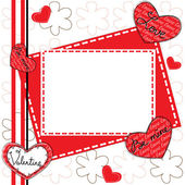 Happy Valentines Day Greeting Card — Cтоковый вектор