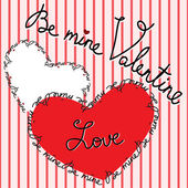Happy Valentine s Day Greeting Card Vector illustration — Vettoriale Stock
