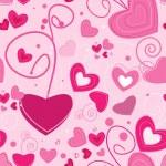 Valentine motives seamless pattern — Stock Vector #7625699