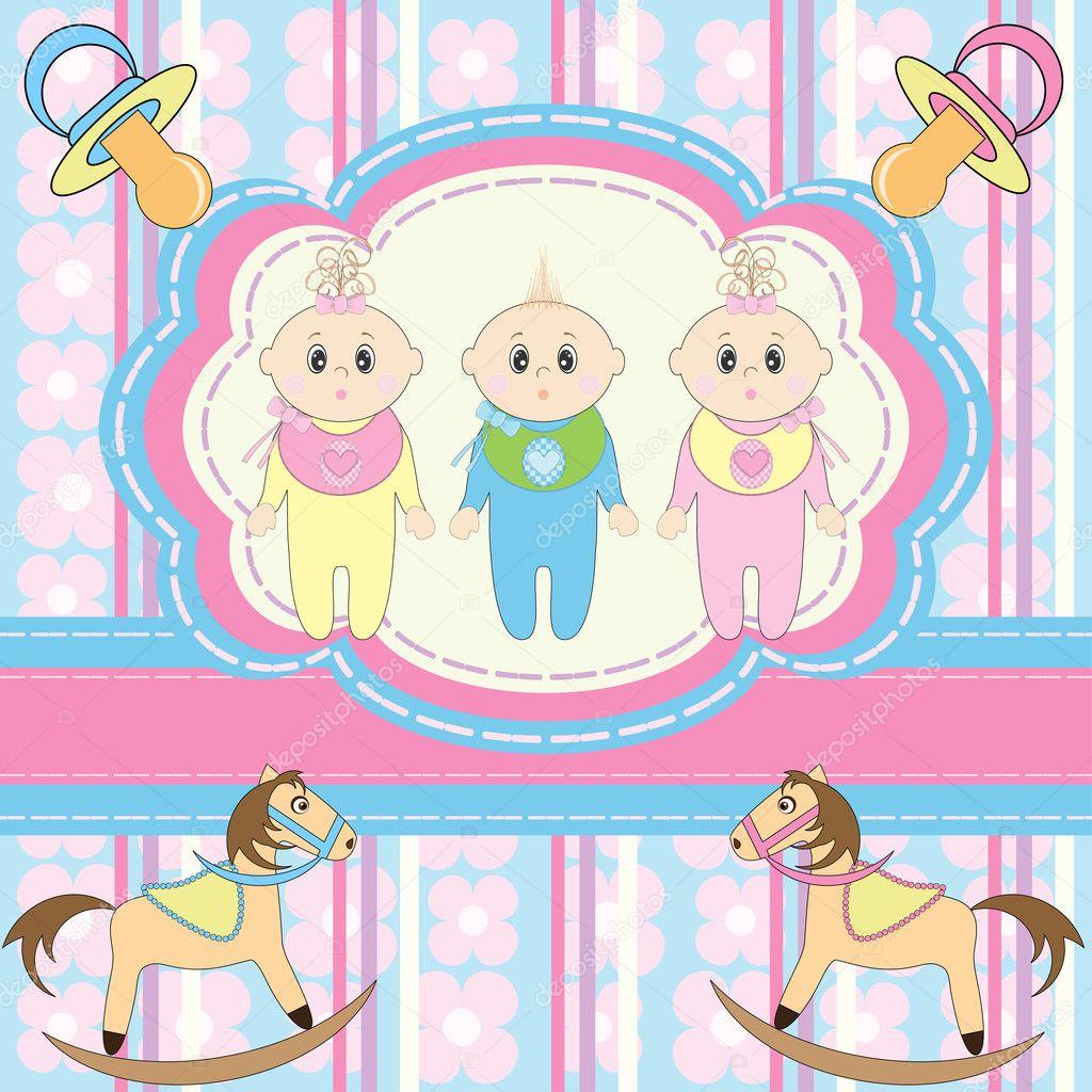 С рождением тройняшек поздравление