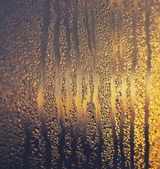 Misted window and dawn — Stock Photo
