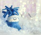 Snögubbe, juldekoration — Stockfoto