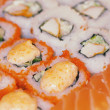 Rolls and sushi — Stock Photo