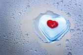 Melting icy heart — Stock Photo