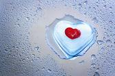 Melting icy heart — Stock Photo