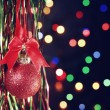 New year background with red ball  — Foto de Stock
