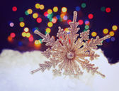 Christmas background with beautiful snowflakes — Stock Photo