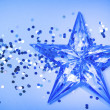 Blue background with star — Stock Photo