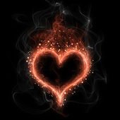 Fire heart — Stock Photo