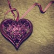 Stock Photo: Beautiful openwork heart.
