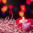Heart shape candle — Stockfoto