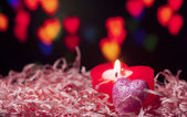 Heart shape candle — Stock Photo