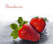 Wet sweet strawberry — Photo