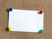 Note with buttons — Stock Photo