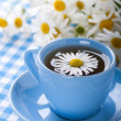 Stock Photo: Herbal chamomile tein blue cup
