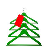 Clothes hangers in the form of a Christmas tree — Stock Photo