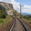 Railway in the mountains — Stock Photo