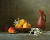Still life with pears — Stock Photo