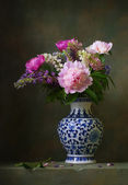 Still life with peonies — Stock Photo