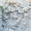 Stock Photo: Frozen window