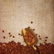 Scoop with coffee beans — Stock Photo