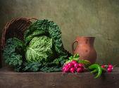 Natureza morta com legumes — Foto Stock