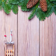 Fir branches and  Christmas decorations — Stock Photo #48750983