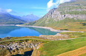 Mount Cenis lake — Stock Photo