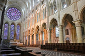 Laon cathedral nave — Stock Photo