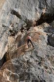 Free climbing — Stock Photo
