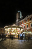 Old fashioned carousel in Terni — Stock Photo